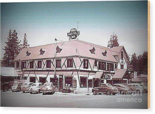 The Navajo Hotel At Big Bear Lake Ca 1940s Painting By