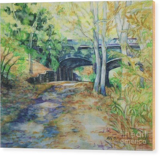 The Nethermead Arches Wood Print