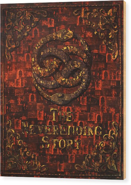 The Neverending Story Wood Print