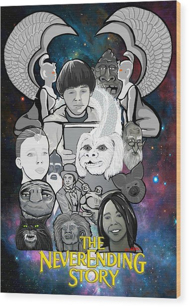 The Neverending Story Wood Print by Gary Niles