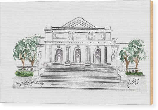 The New York Public Library Wood Print