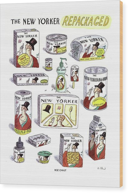 The New Yorker Repackaged Wood Print