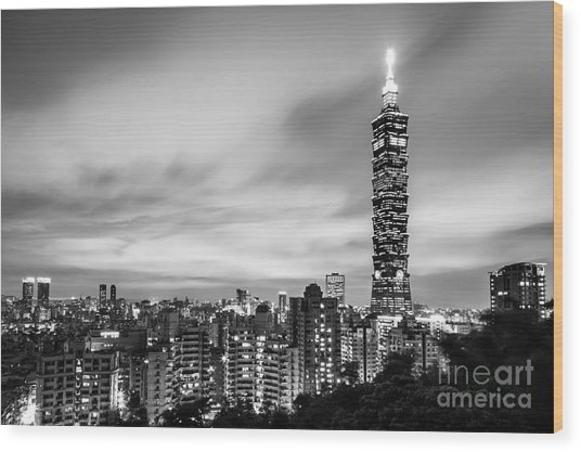 The Nights Of Taipei Wood Print