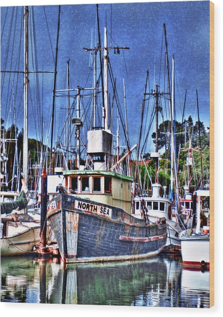 The Northern Sea Fishing Boat Wood Print