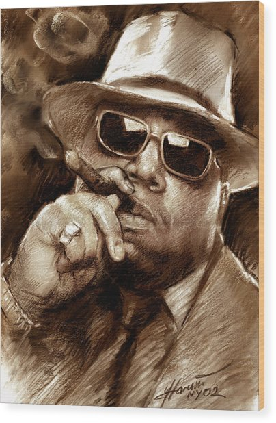 The Notorious B.i.g. Wood Print
