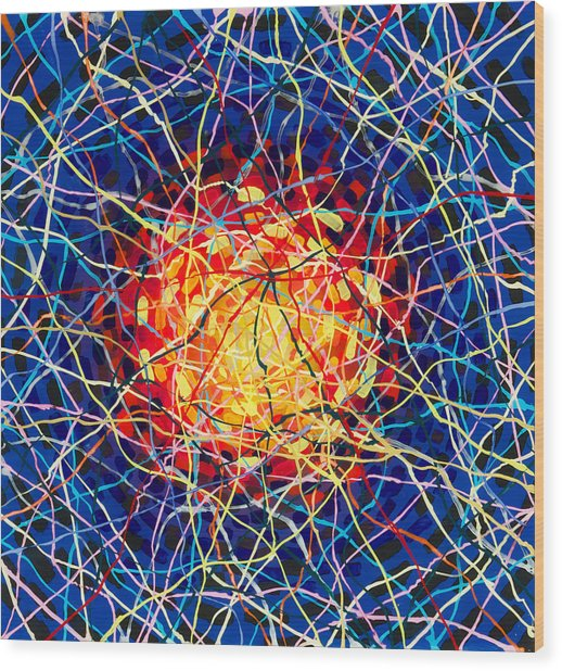 The Nucleus Wood Print by Patrick OLeary