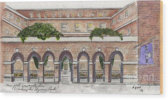 The Nyu Law School Wood Print