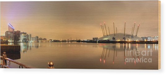 The O2 Arena Wood Print by Size X