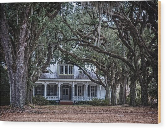 The Oaks Plantation Wood Print