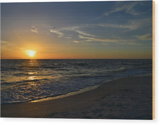 The Ocean Wood Print