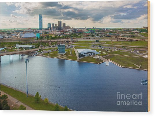 The Oklahoma River Wood Print