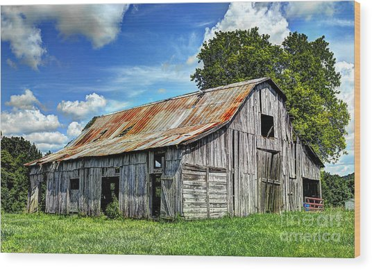 The Old Adkisson Barn Wood Print
