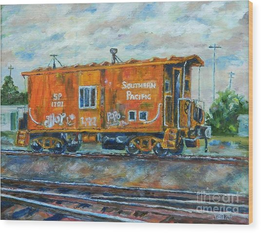 The Old Caboose Wood Print