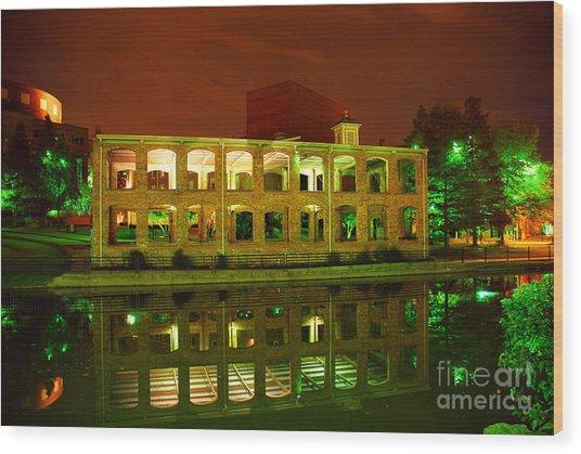 The Old Carriage House Building In Downtown Greenville Sc Wood Print