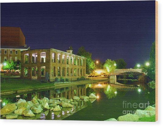 The Old Carriage House In Downtown Greenville Sc Wood Print