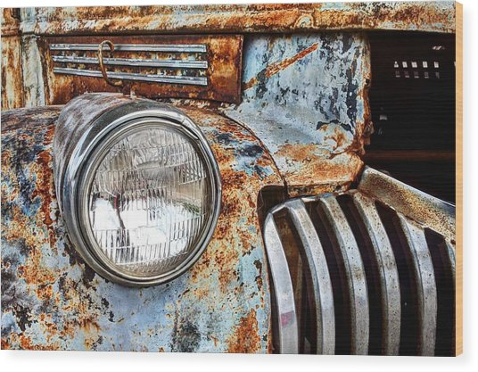 The Old Chevy  Wood Print by JC Findley