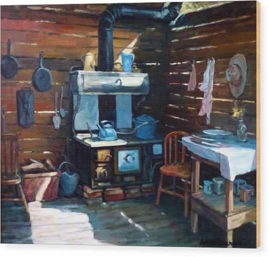 The Old Chinook Wood Print by Richard McDiarmid