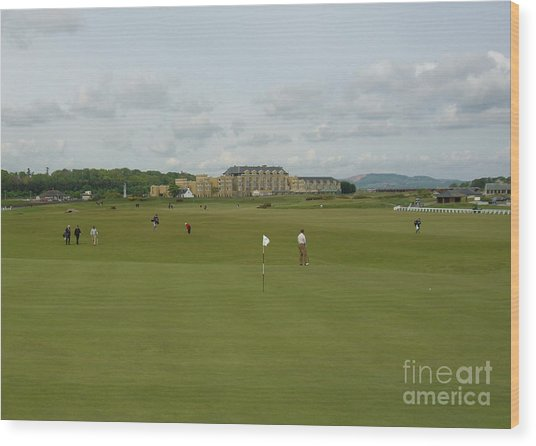 The Old Course Wood Print