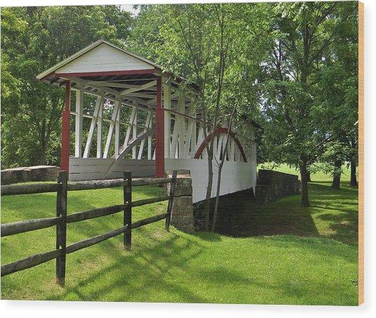 The Old Covered Bridge Wood Print