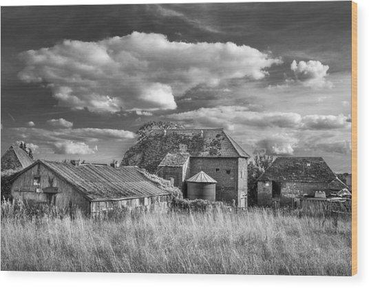 The Old Farm Buildings. Wood Print