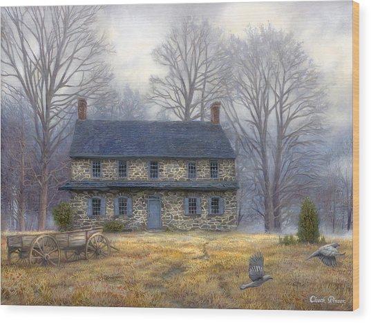 The Old Farmhouse Wood Print