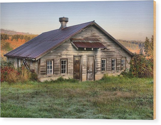 The Old Homestead Wood Print by Melody Madsen