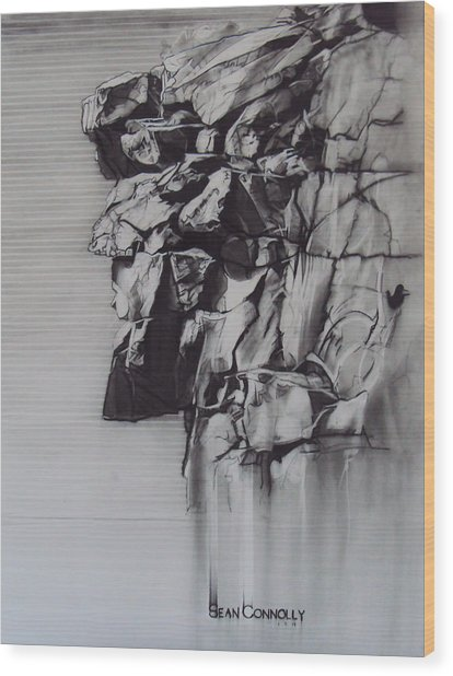 The Old Man Of The Mountain Wood Print