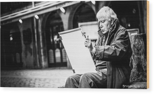 Wood Print featuring the photograph The Old Man Painter II by Stwayne Keubrick