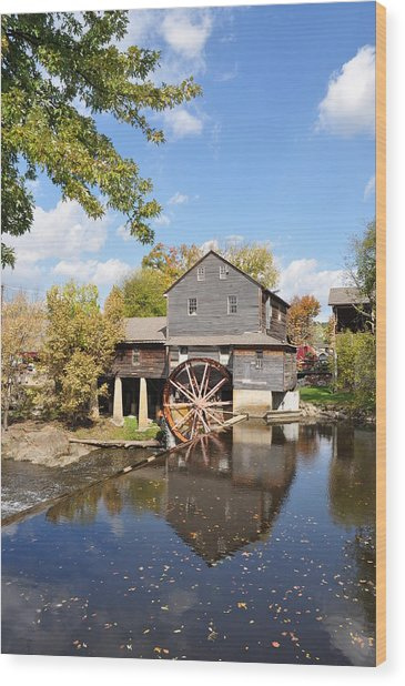 The Old Mill - Lazy Summer Day Wood Print by John Saunders