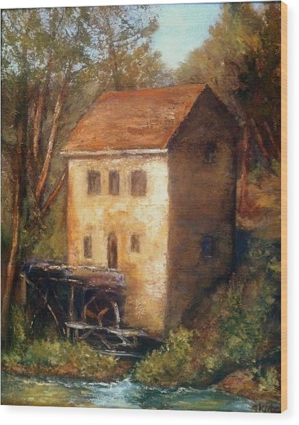 The Old Mill Wood Print