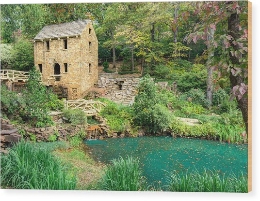 The Old Mill - North Little Rock - Pugh's Mill 1832 Wood Print