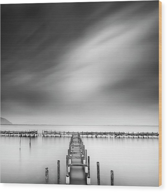 The Old Pier Wood Print by George Digalakis