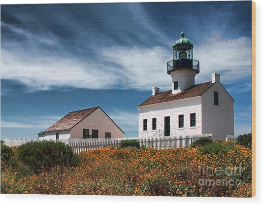 The Old Point Loma Lighthouse By Diana Sainz Wood Print