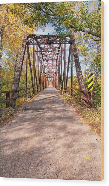 The Old River Bridge Wood Print