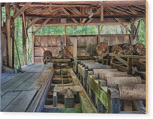 The Old Sawmill Wood Print