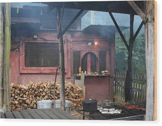 The Old Smoke Shack Wood Print