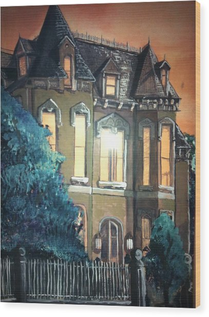 The Old Stegmeier Mansion Wood Print