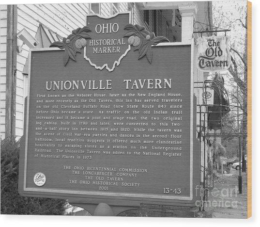 The Old Tavern II Wood Print