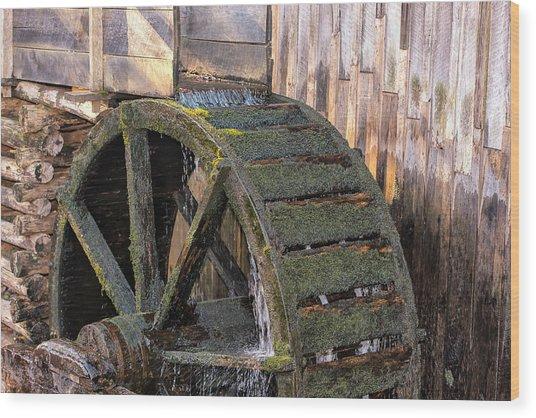 The Old Waterwheel Wood Print