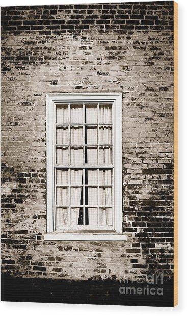 The Old Window Wood Print