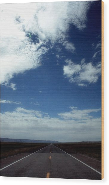The Open Road Wood Print