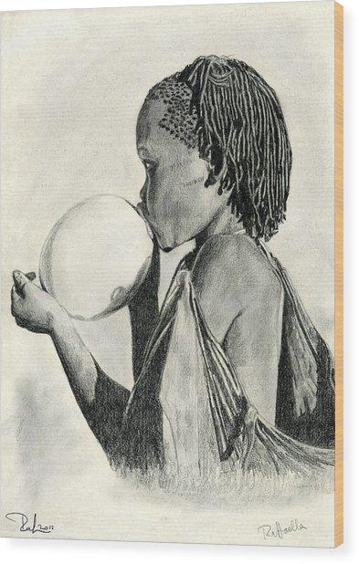 The Ostrich Egg Wood Print