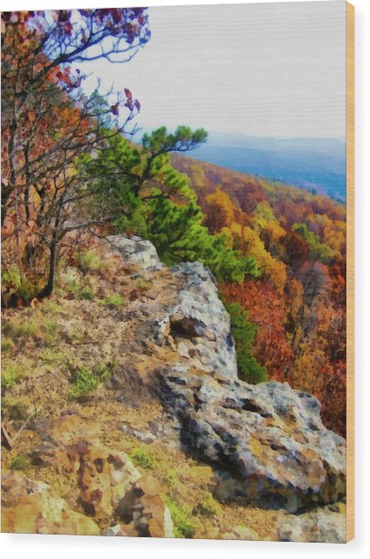 The Ozarks In Autumn Wood Print