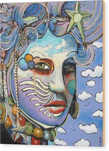 The Painted Lady Wood Print by James  Lalepop Becker