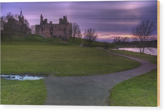 The Palace At Dusk Wood Print