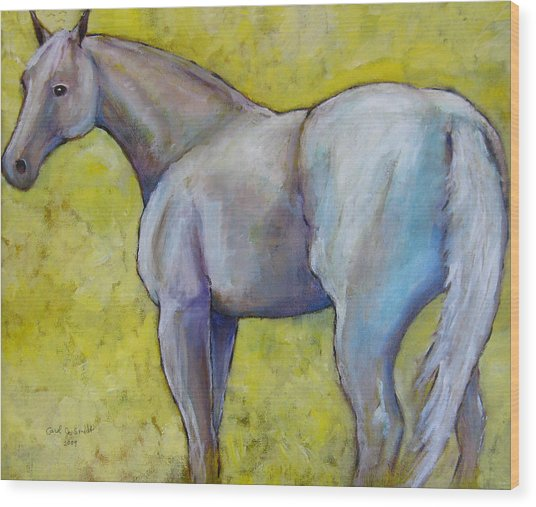 The Pale Horse Wood Print