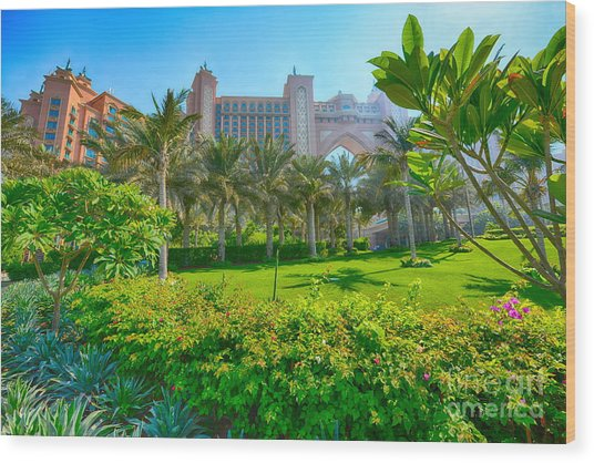 The Palm - Atlantis - Dubai Wood Print by George Paris