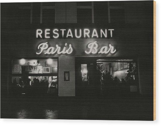 The Paris Bar Wood Print