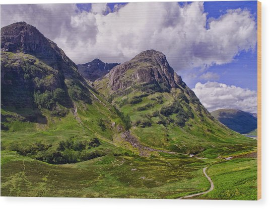 The Pass Of Glencoe Wood Print