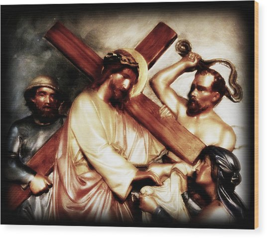 The Passion Of Christ Vii Wood Print